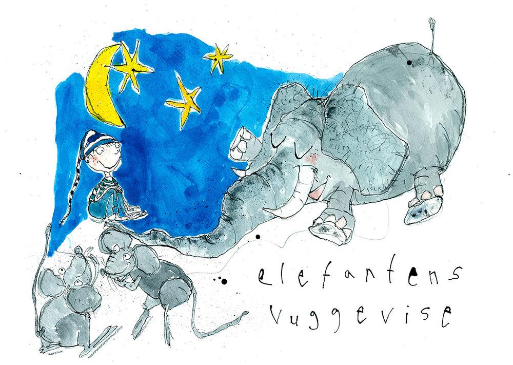 Elefantens vuggevise, tryk til salg, kr. 350