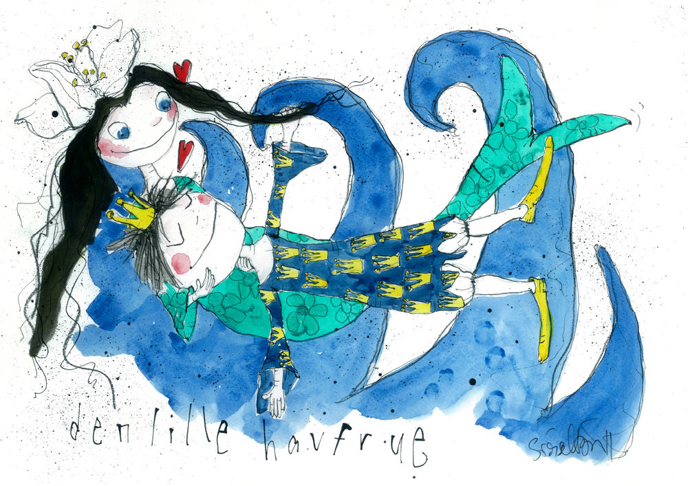 Den lille havfrue, tryk til salg, kr. 350