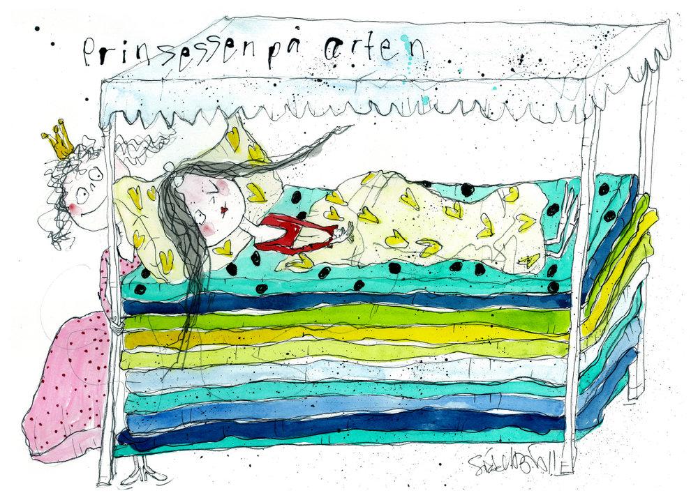 Prinsessen på ærten, tryk til salg, kr. 350