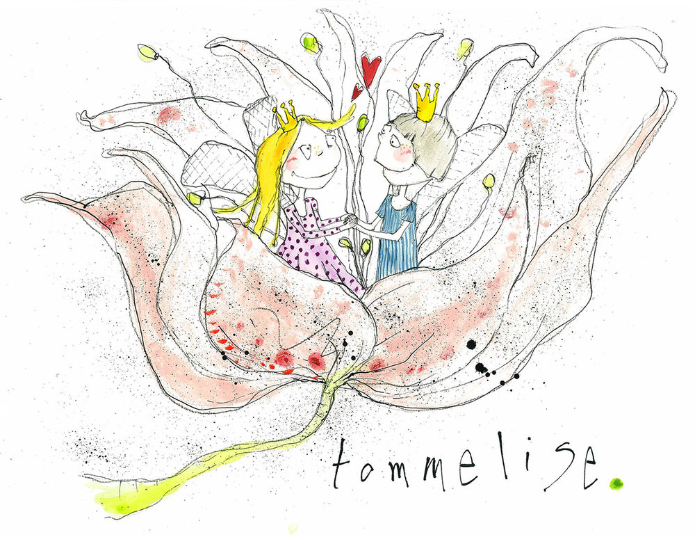 Tommelise, tryk til salg, kr. 350