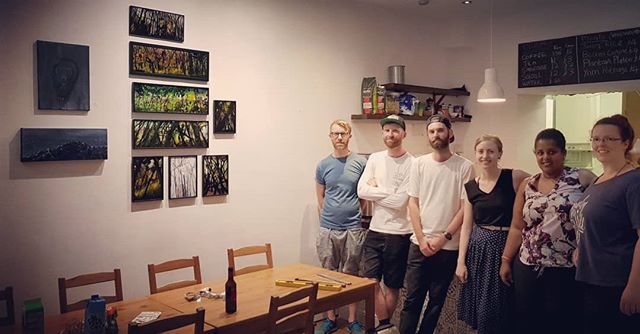 Group picture of the guys before the Art exhibition #NewRootsCafe #Islington #Art #Cool #KC