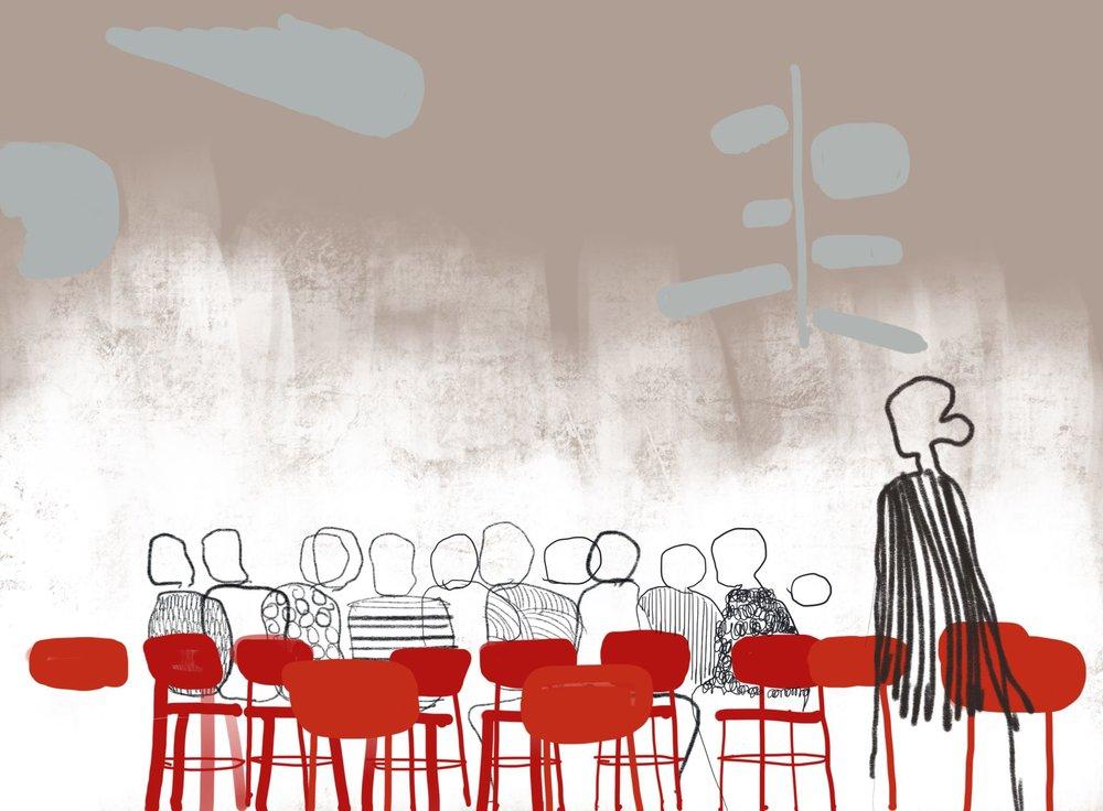Inspirational drawings of Ateljé Restaurant © Matti Klenell