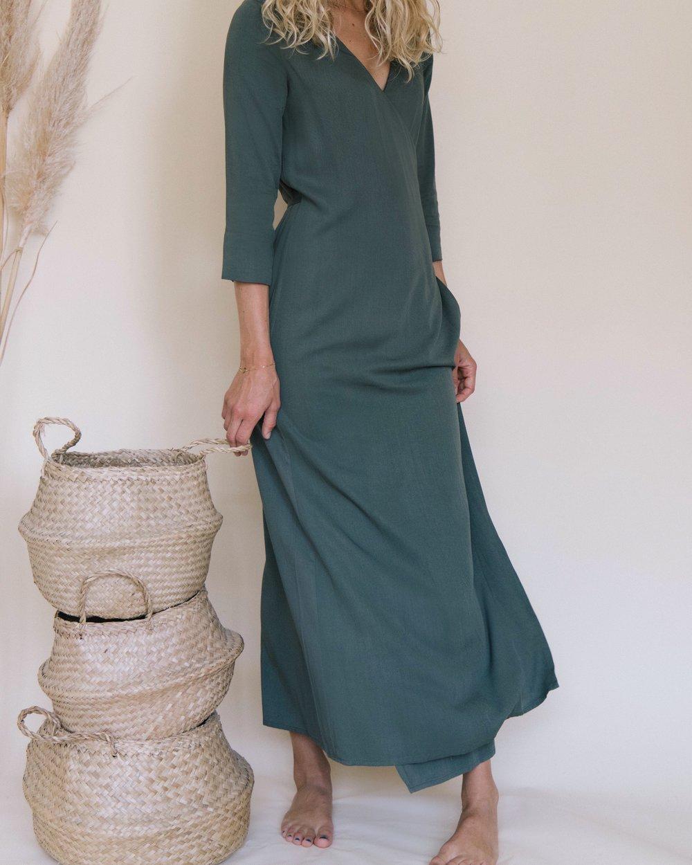 PALAVER KHAKI WRAP DRESS 4.JPG