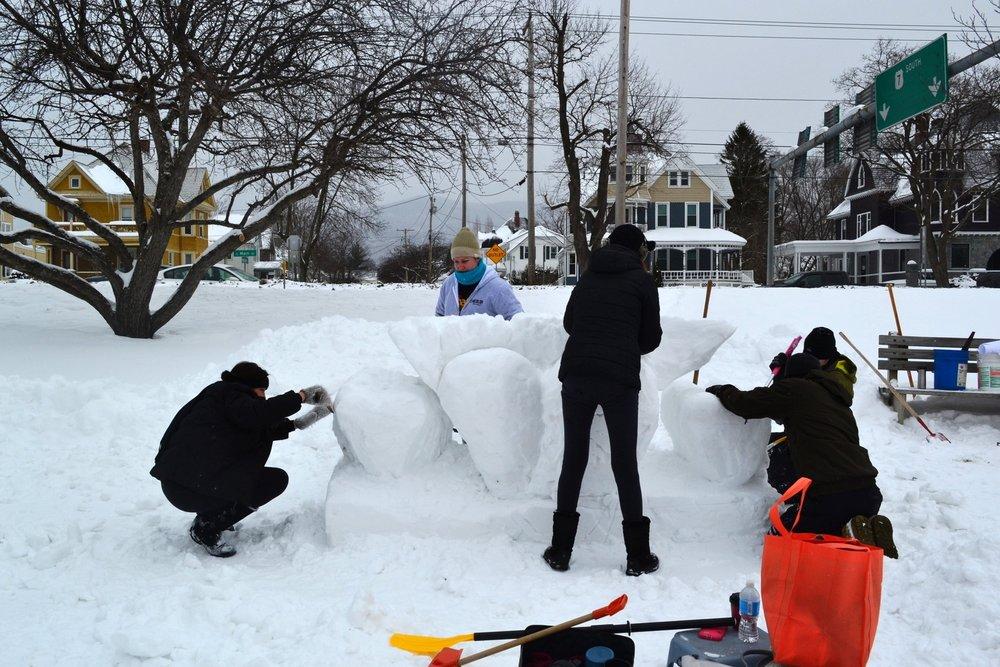 Rutland Winter Fest Chaffee Art Center hard at work