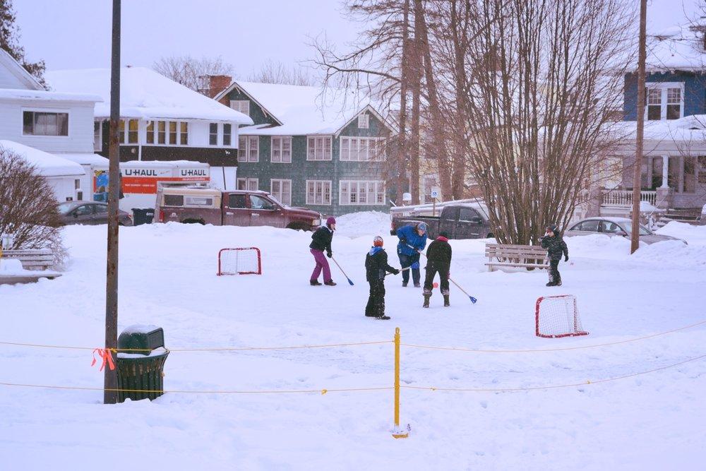 Rutland Winter Fest first broom ball game!