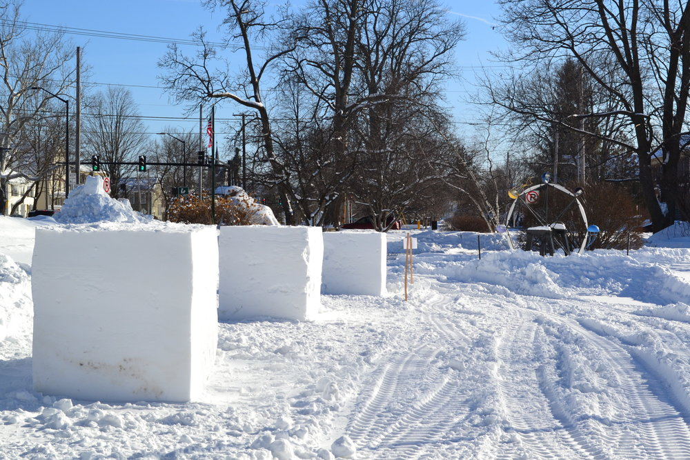 Rutland Winter Fest Sculpture forms