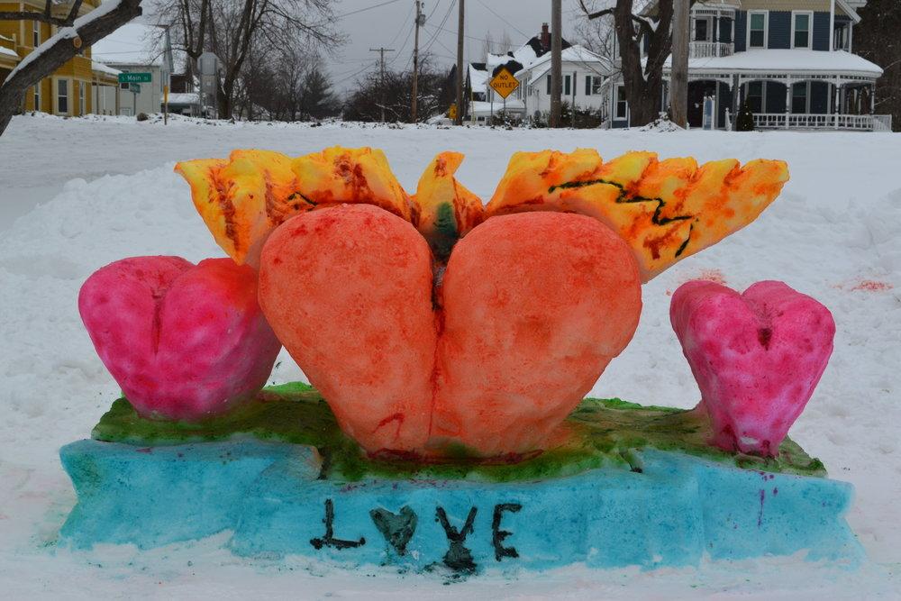 Rutland Winter Fest Chaffee Art Center Flaming Hearts