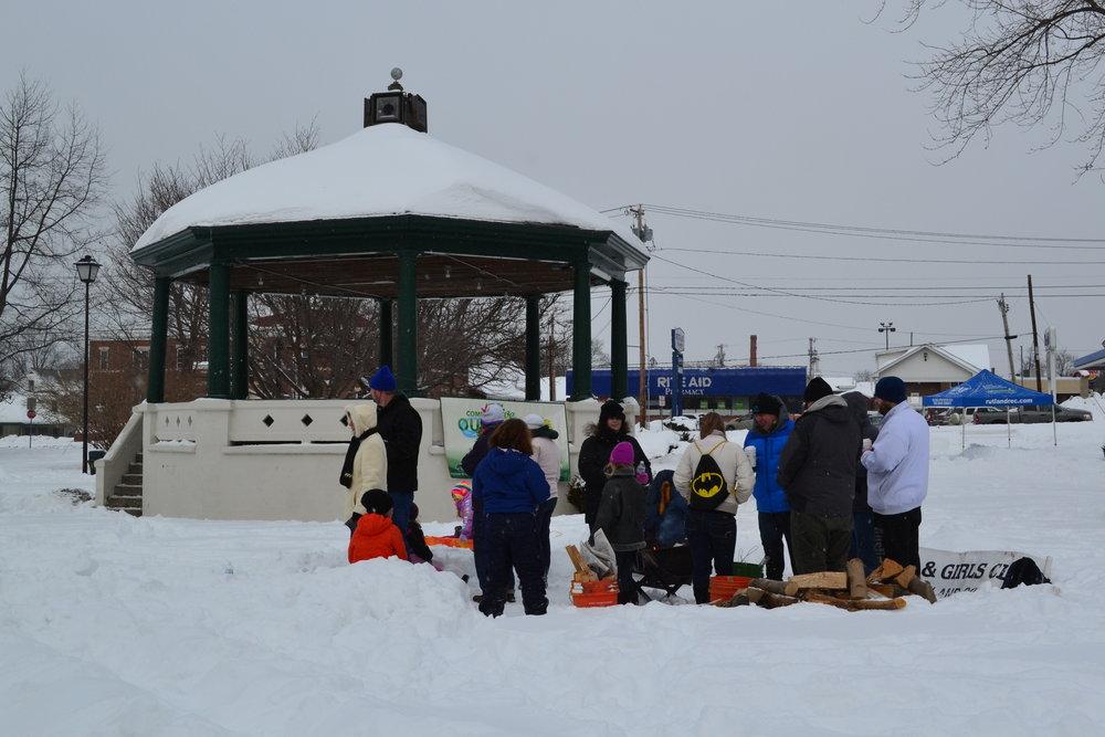 Rutland Winter Fest Boys and Girls Club of Rutland County toasting marshmallows