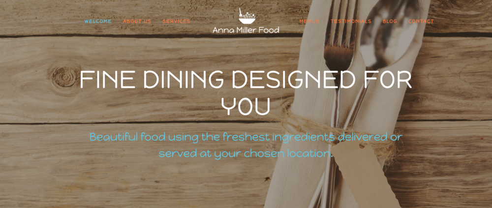 Anna Miller Food - This website needed to showcase a portfolio of the client's work as well as the services offered.  Alongside this we provided full social media support, online marketing and logo design.