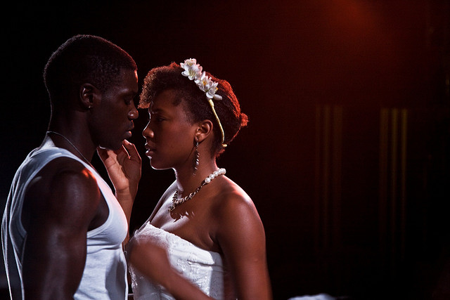 Marlon Day as Leonardo, Jade Anouka as The Bride. Photograph Anna Hammersley.