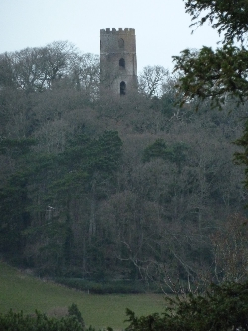 The folly on Conygar Hill rivals nearby Dunster Castle.