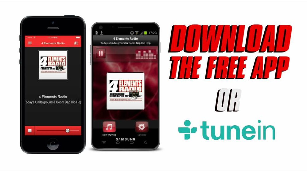 Download the FREE APP or TUNEIN!!