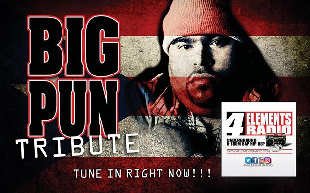 TRIBUTE TO BIG PUN HAPPENING NOW!!! Tune in right now as we go in hard for Christopher Lee Rios better known as Big Pun: 1971-2000. RIP... from the only station representing Underground & Boom Bap Hip Hop!!! Download the free '4 ELEMENTS RADIO APP' in the App Store/Google Play or listen via TUNEIN or any other internet radio streamer... #4ElementsRadio | #RealHipHop | #BoomBap | #UndergroundHipHop | #HipHopRadio | #InternetRadio | #4ElementsOfHipHop | #GrownManHipHop | #BoomBapHipHop | #OnlineRadio | #NoMumbleRap | #StrictlyBoomBap