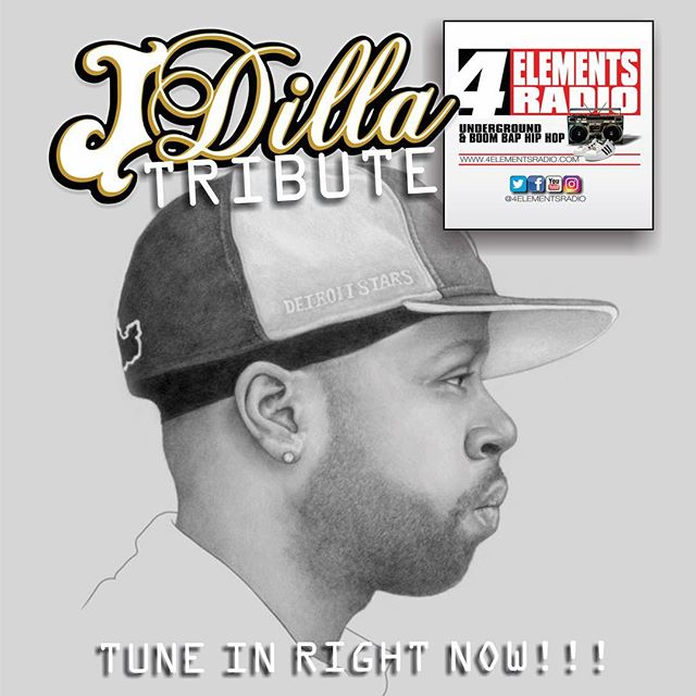 TRIBUTE TO J DILLA HAPPENING NOW!!! Tune in right now as we go in hard for one of the greatest Hip Hop producers of all time James Dewitt Yancey aka J DILLA: 1974-2006. RIP... from the only station representing Underground & Boom Bap Hip Hop!!! Download the free '4 ELEMENTS RADIO APP' in the App Store/Google Play or listen via TUNEIN or any other internet radio streamer... #4ElementsRadio | #RealHipHop | #BoomBap | #UndergroundHipHop | #HipHopRadio | #InternetRadio | #4ElementsOfHipHop | #GrownManHipHop | #BoomBapHipHop | #OnlineRadio | #NoMumbleRap | #StrictlyBoomBap