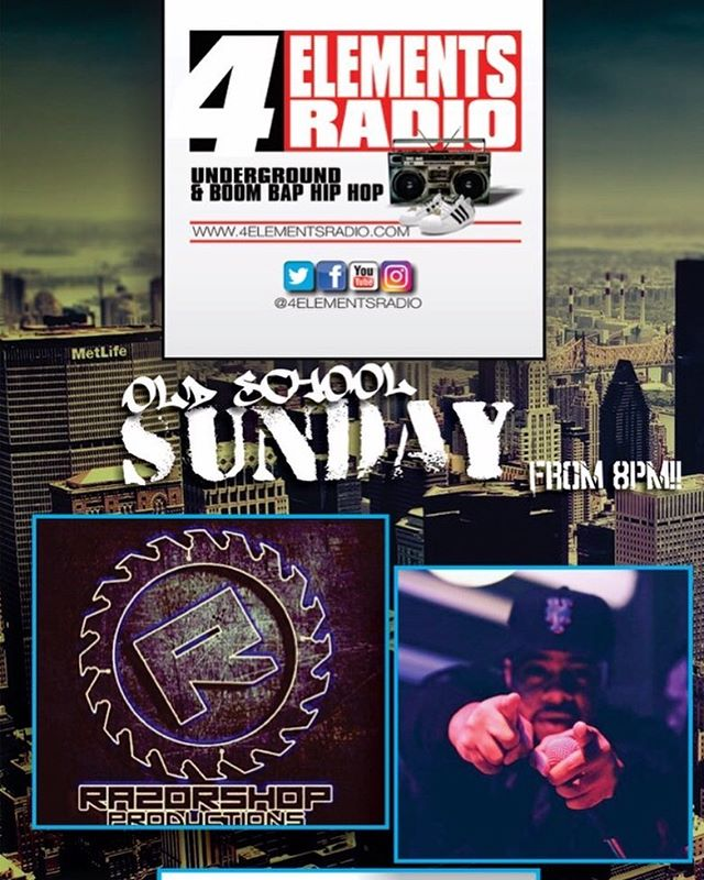 Coming up at 8PM (7PM EST)!!!! OLD SCHOOL SUNDAY... with the team of RAZORSHOP, DJ E DUBBLE and THE RUB on 4 Elements Radio... The only station representing Underground & Boom Bap Hip Hop!!! Download the free '4 ELEMENTS RADIO APP' in the App Store/Google Play or listen via TUNEIN or any other internet radio streamer... #4ElementsRadio | #RealHipHop | #BoomBap | #UndergroundHipHop | #HipHopRadio | #InternetRadio | #4ElementsOfHipHop | #GrownManHipHop | #BoomBapHipHop | #OnlineRadio | #NoMumbleRap | #StrictlyBoomBap