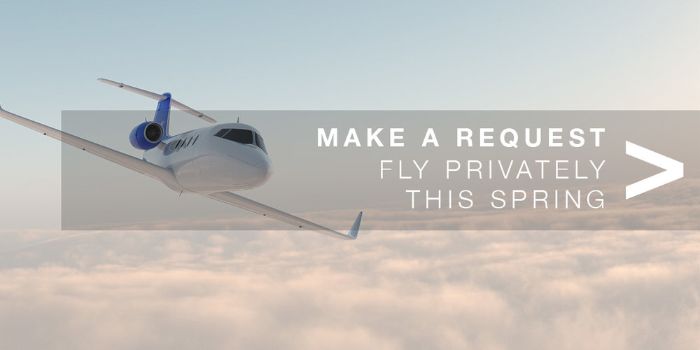 Fly privately during springtime. Request a private jet with Air Partner