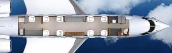 Interiro Gulfstream 650 Floorplan Private Jet