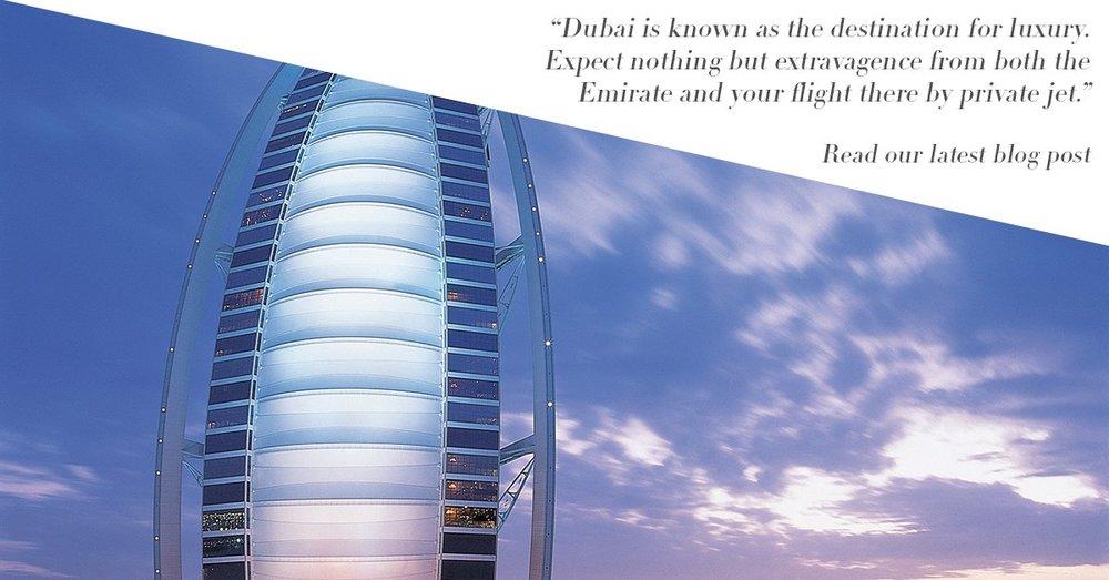 Private jet to Dubai