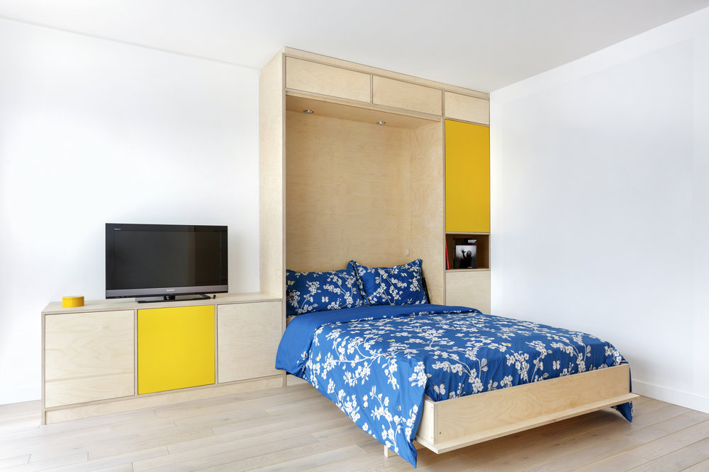 Photo d'un lit escamotable sur-mesure
