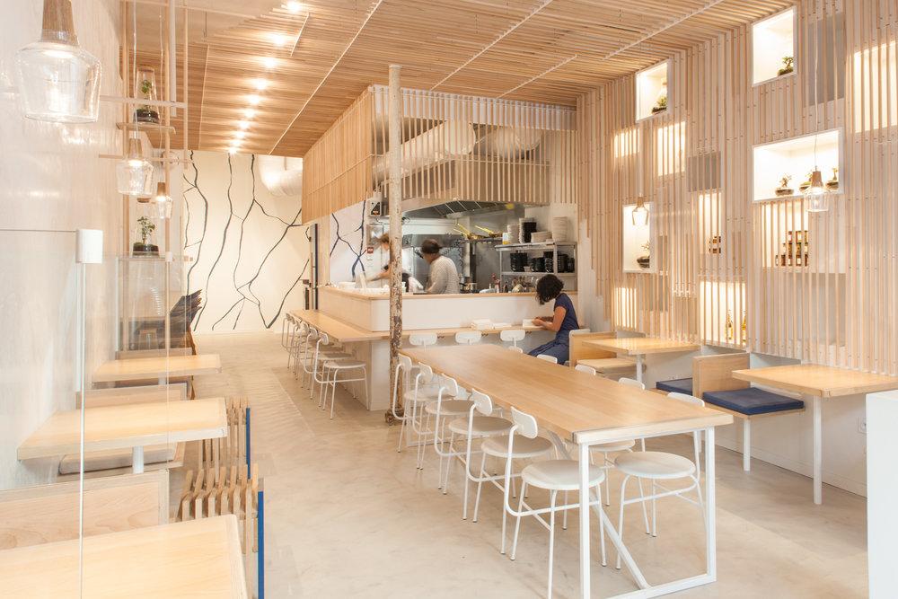 Agencement restaurant sur-mesure avec le Loyal Café à Paris