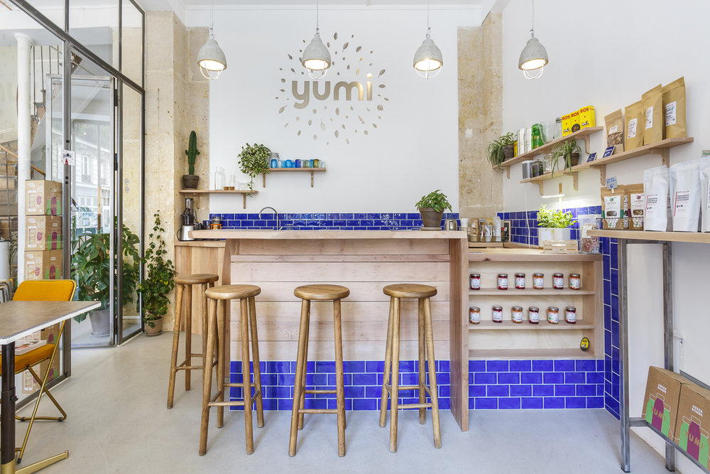 Agencement sur-mesure de la première boutique Yumi