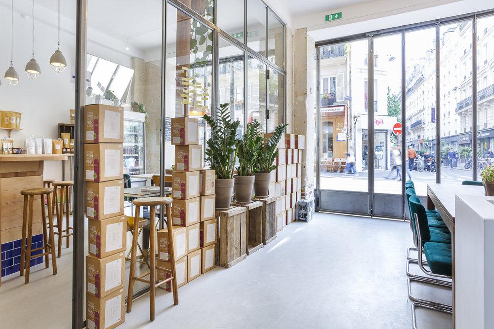 Aménagement de la boutique Yumi rue du château d'eau à Paris