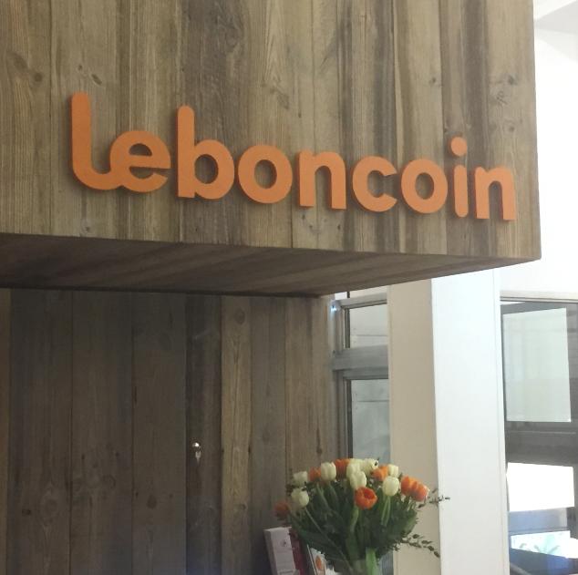 Logo en lettres découpées pour Le Bon Coin
