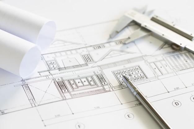 Photo de plan d'architecte