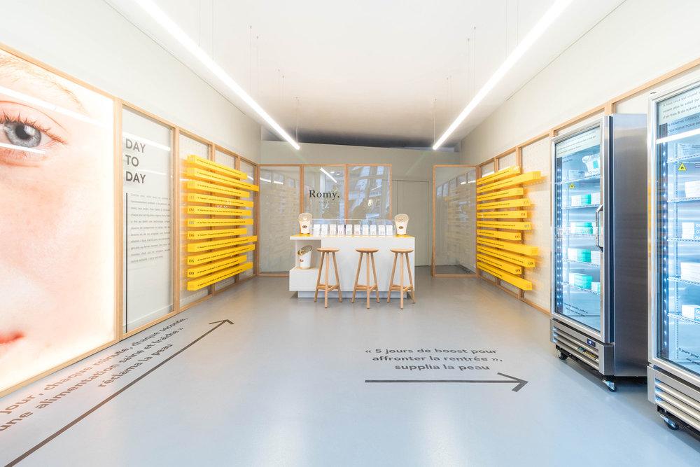photo pop up store design agencement et signalétique
