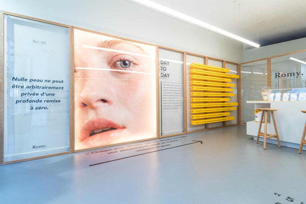 photo pop up store design romy paris