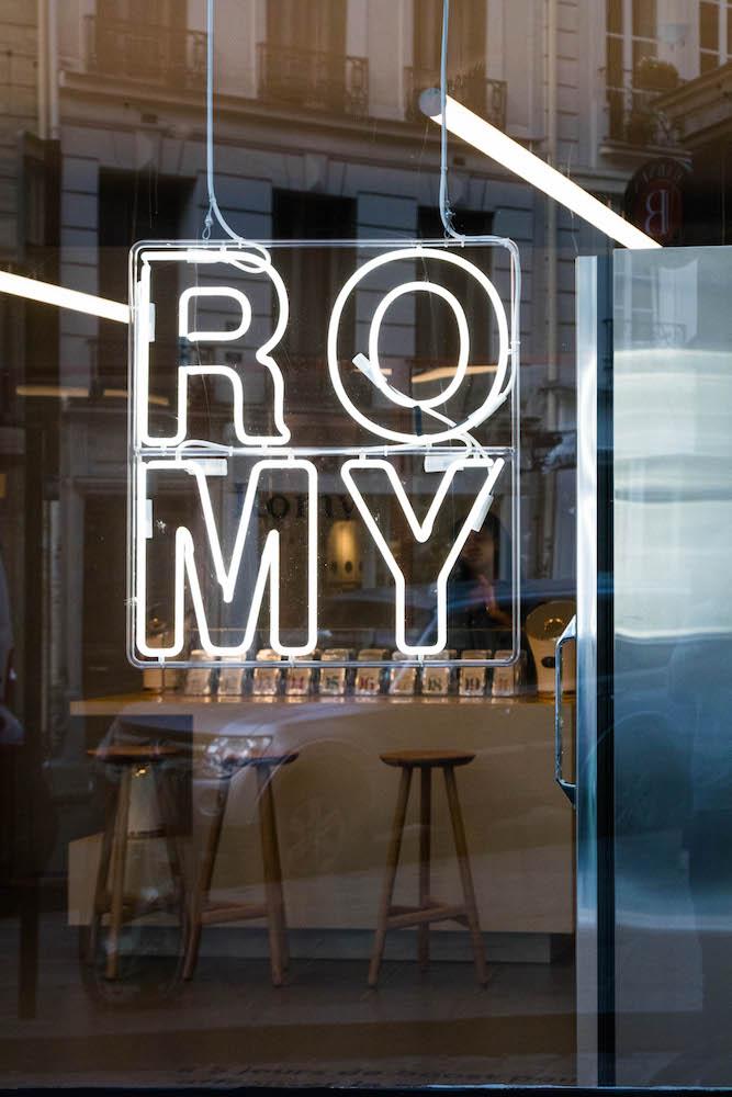 photo pop up store Romy Paris