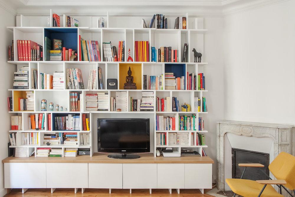 Bibliothèque scandinave design sur-mesure Muni&co