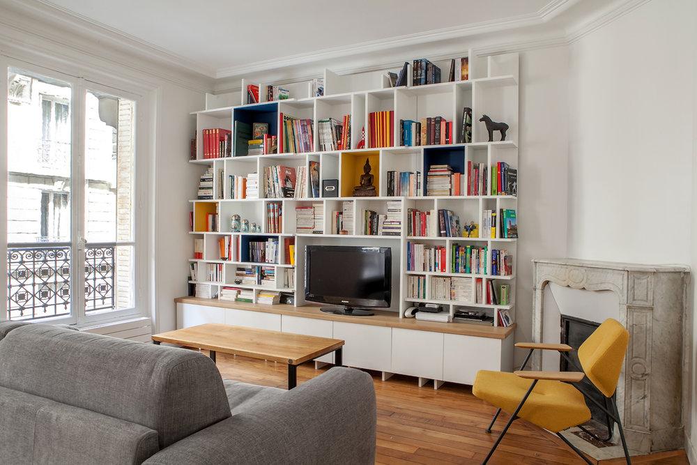 Bibliothèque design sur-mesure Muni&co