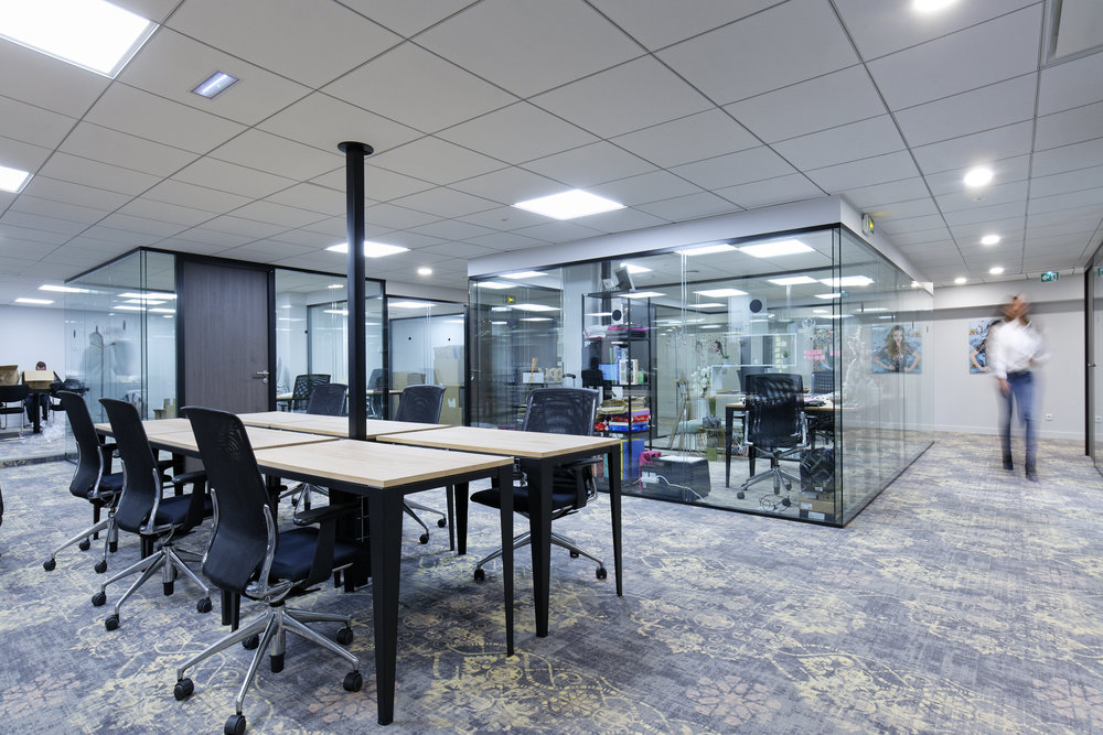 mobilier de bureaux modulable pour open space