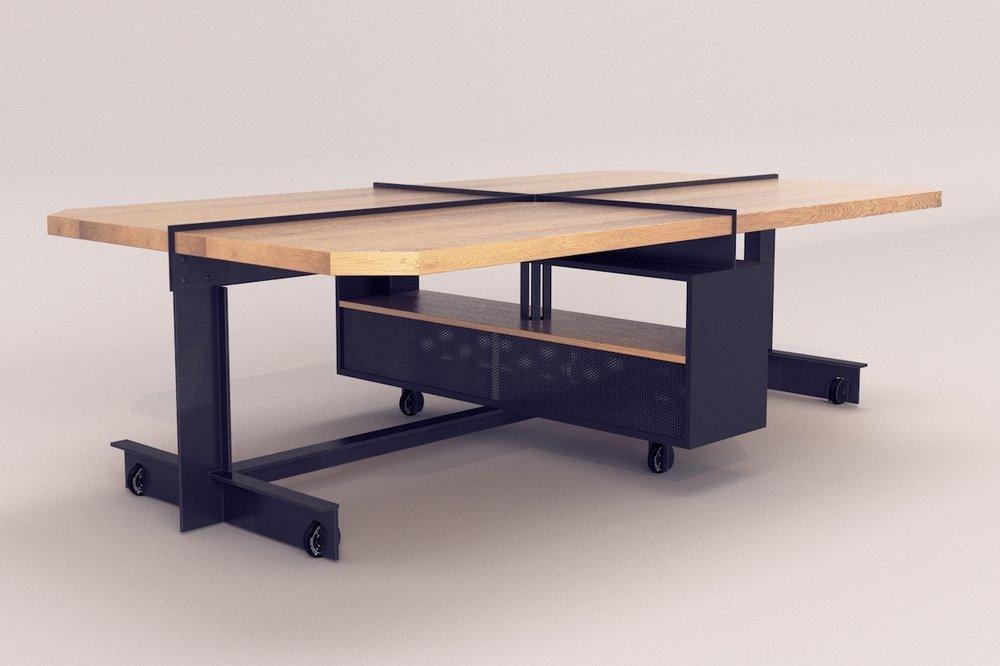 table de bureau industrielle pour agence
