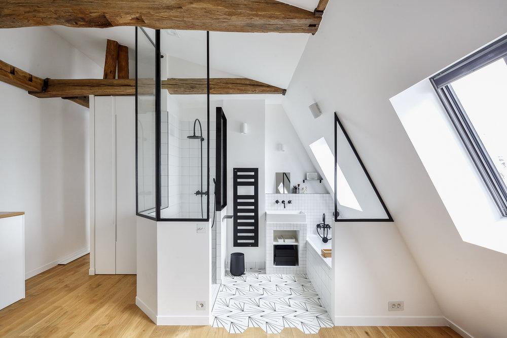 PARTICULIER I Premices & Co  Fabrication d'une verrière de salle de bain
