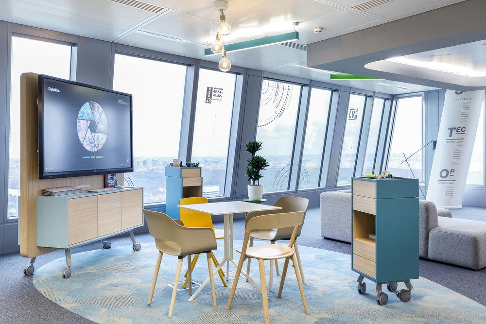 LA GREENHOUSE - DELOITTE FRANCE  I Moore Design  Fabrication de meubles de bureaux modulables et sur-mesure