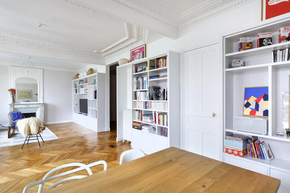 rangement sur-mesure appartement Boulogne
