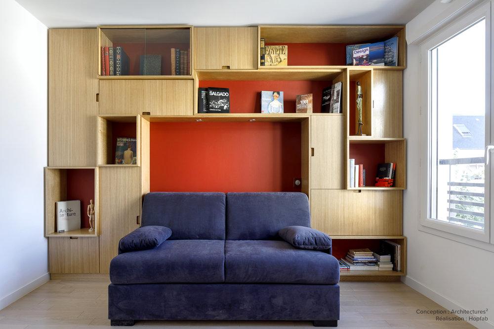 PARTICULIER  I Architectures2  Agencement salon et chambre
