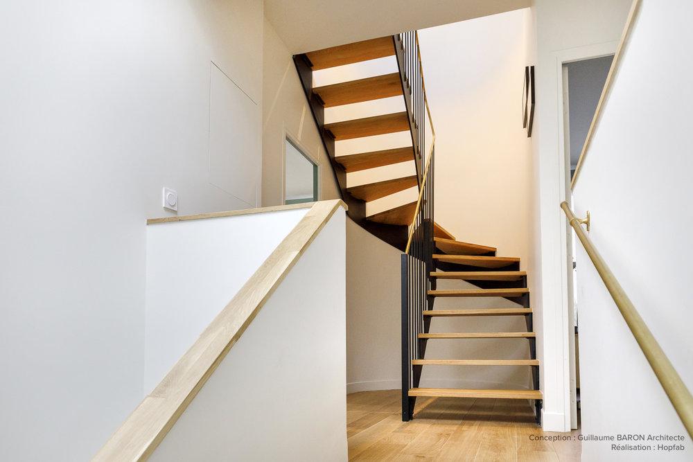 PARTICULIER  I Guillaume Baron Architecte  Escaliers sur-mesure