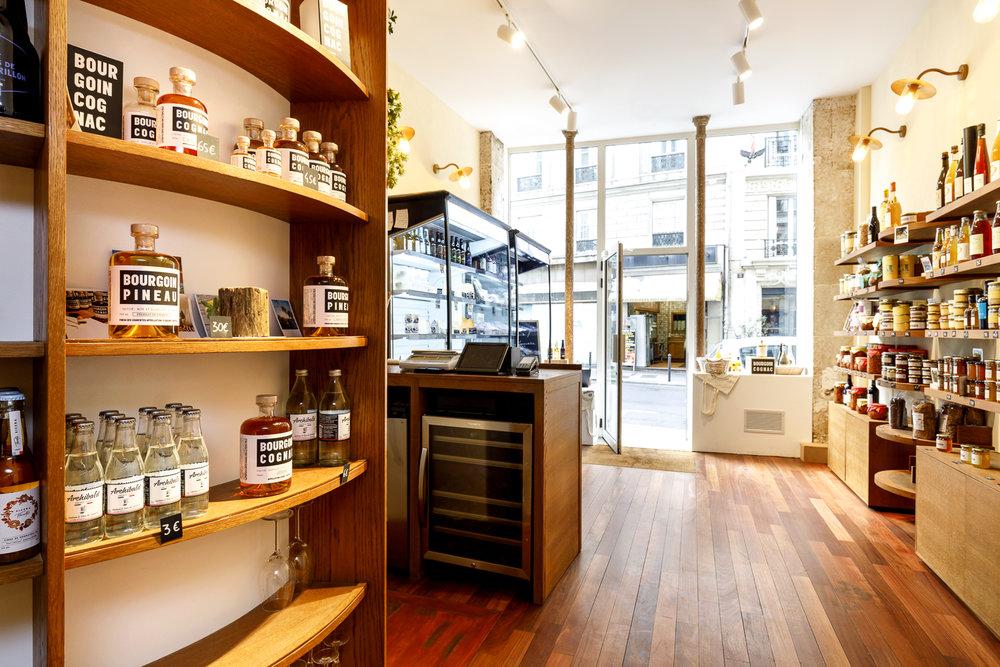 Agencement boutique épicerie fine à Paris