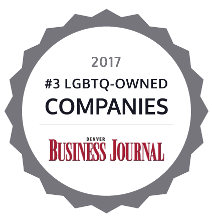 2017 #3 LGBTQ-Owned Companies by Denver Buisness Journal