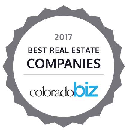 2017 Best Real Estate Company by colorado biz