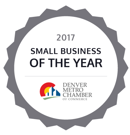 2017 Small Business of the year by the Denver Metro Chamber of Commerce