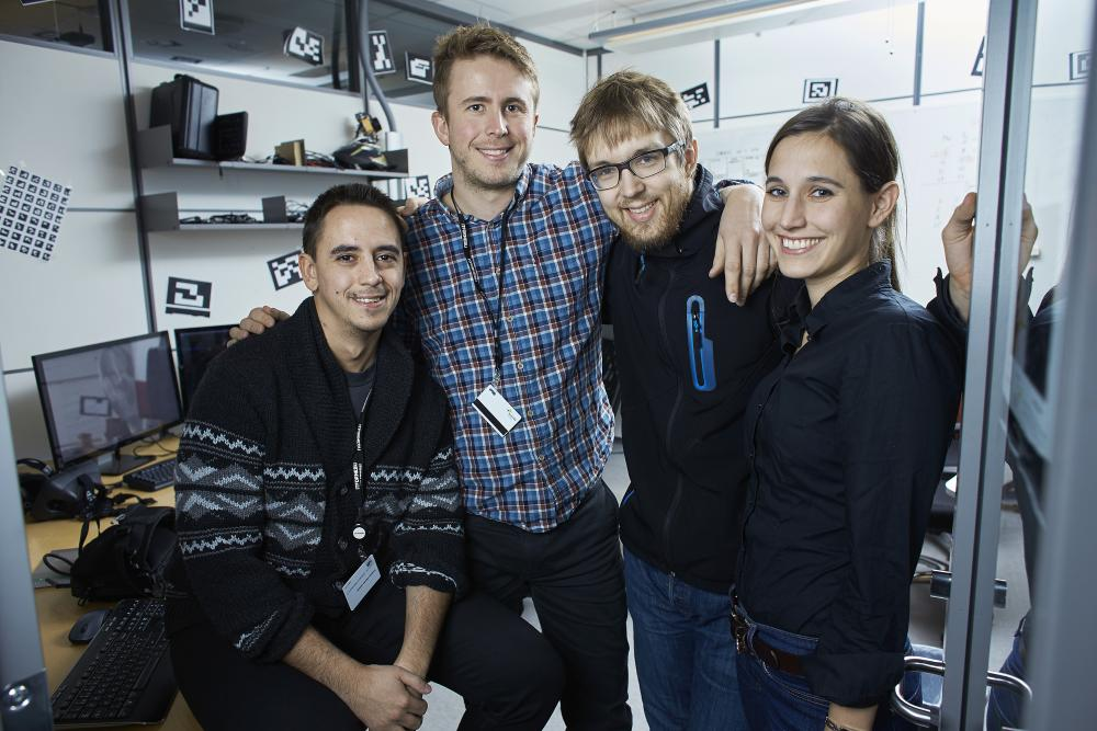 From left: Frederico Valente Almeida, Simen Andresen, Magnus Elden and Sarah Muller of Imerso.