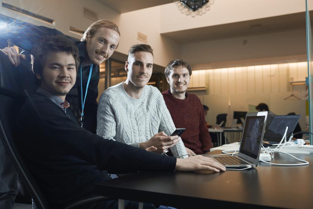 From left: August André Kvernmo, Ståle Zerener Haugnæss, Stig Zerener Haugnæss and Tor Egil Fusdahl of Gallereel.