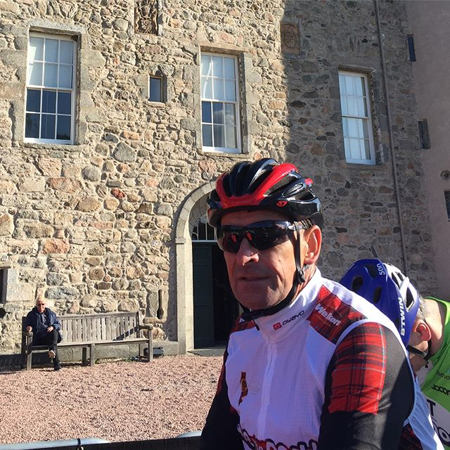 On the start line. Ride the North, brutal day riding into the wind. Lots of tired legs out there tonight. Sleep well, day 2 awaits. #ridethenorth #rtn #castlefraser #elgin #griptours #support #visitabdn #visitaberdeenshire