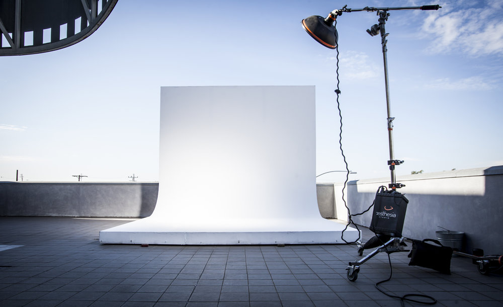 Aesthesia Studios Terrace Cyc Cyclorama Filming Commercial Film Space Shoot