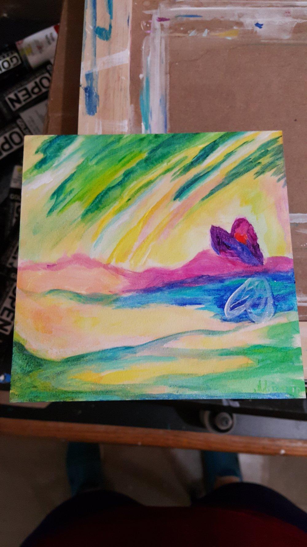 Acrylic on Aquabord