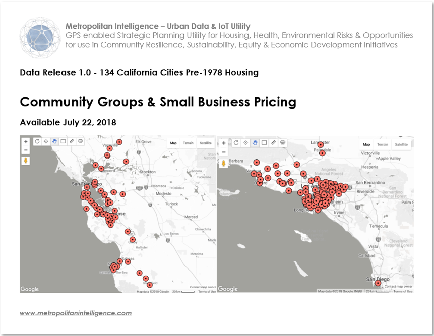 Urban Data & IoT Utility for Constituents, Small Businesses, & Community GroupsData Release 1.0134 California Cities Pricing -